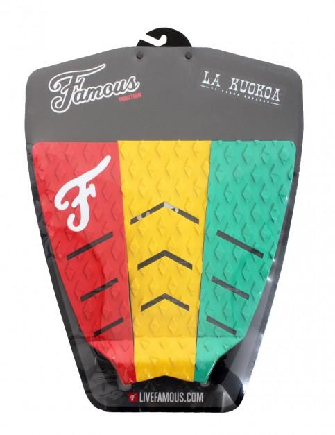 Famous La Kuokoa Surfboard Tail Pad - Rasta