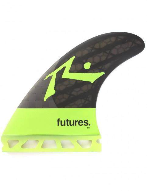 Futures Rusty Blackstix Tri Fins Large - Light Green/Carbon