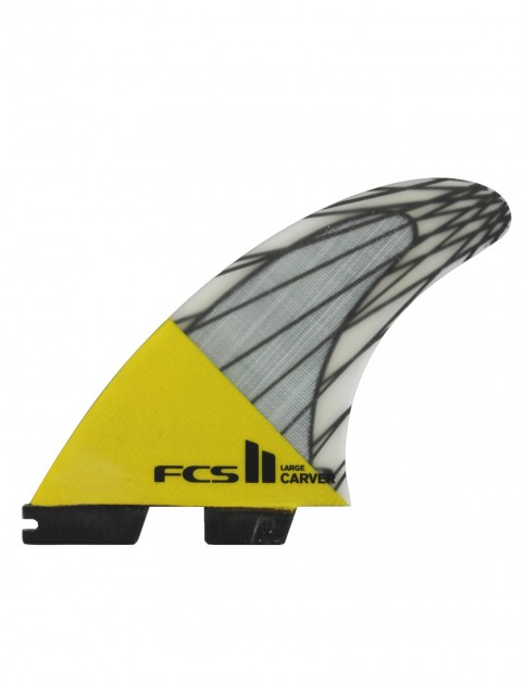 FCS II Carver PC Carbon Tri Fin Large - Yellow