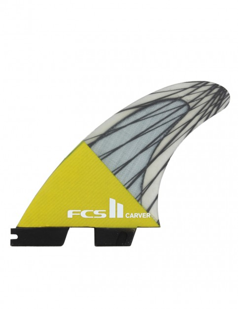 FCS II Carver PC Carbon Tri Fins Medium - Yellow