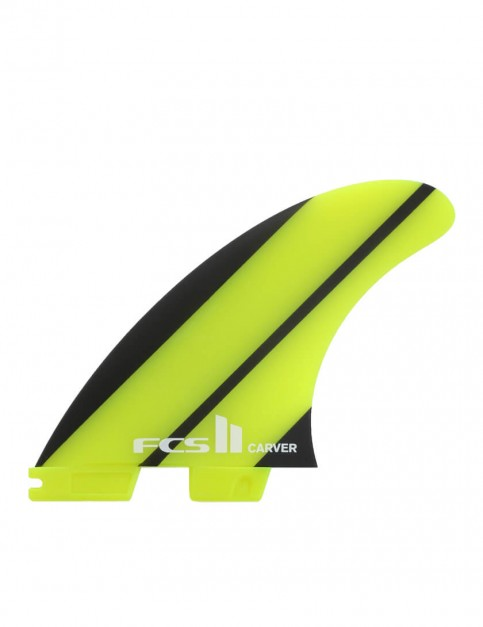 FCS II Carver Neo Glass Tri-Quad Fins Large - Neon Green