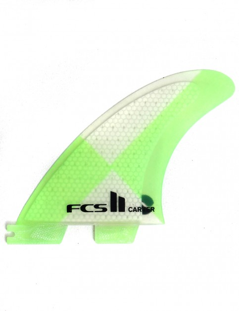 FCS II Carver Thruster PC Medium Tri Fin Set - Green