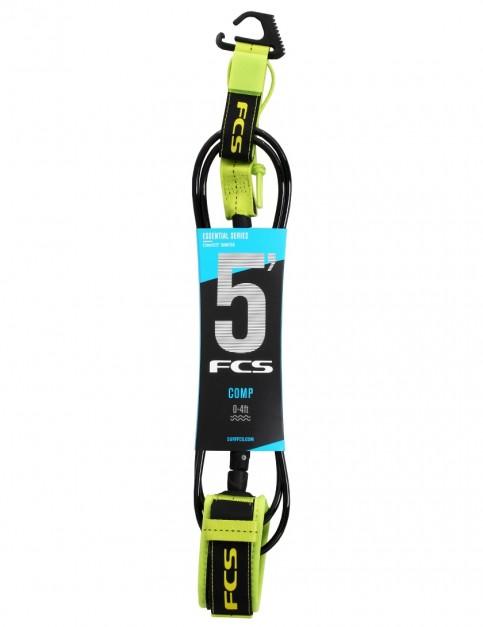 FCS Comp surfboard leash 5ft - Fluro Green