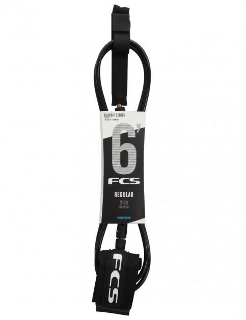 FCS Regular Classic surfboard leash 6ft - Black