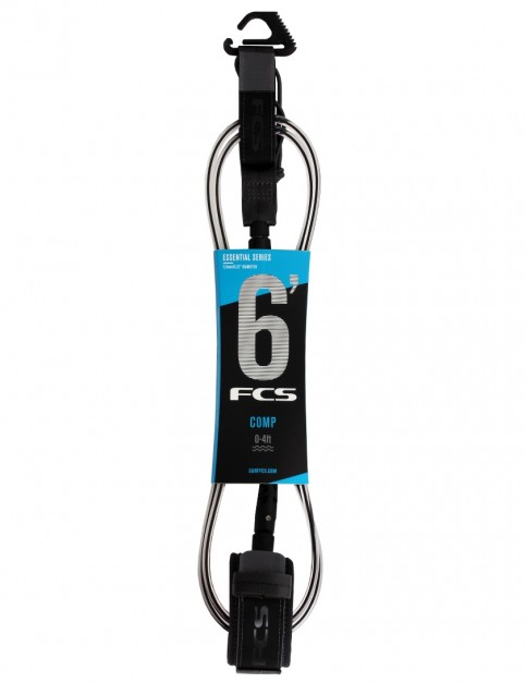 FCS Comp surfboard leash 6ft - Coal