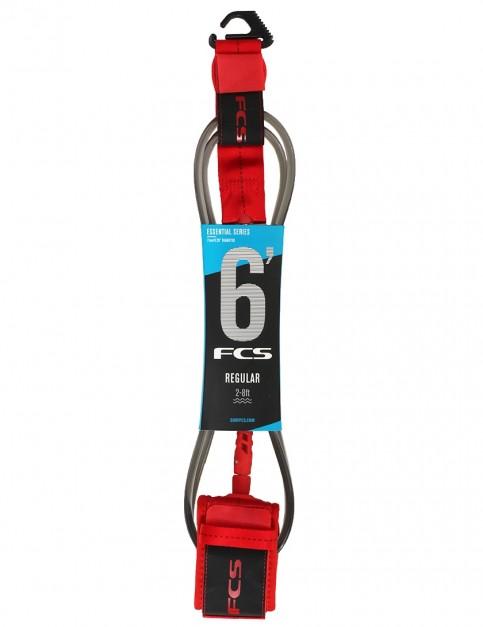 FCS Regular surfboard leash 6ft - Red