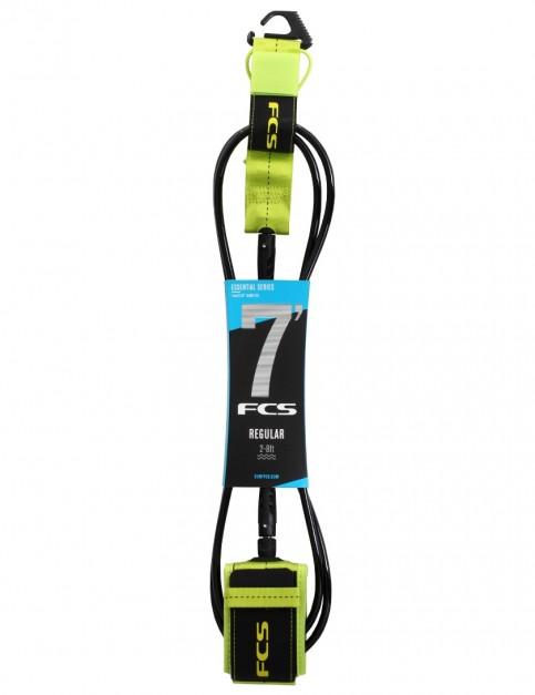 FCS Regular surfboard leash 7ft - Fluro Green