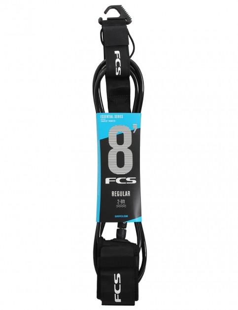 FCS Regular surfboard leash 8ft - Black
