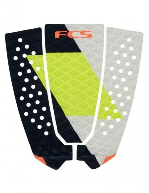 FCS Filipe Toledo Surfboard Tail Pad - Coal/Lime