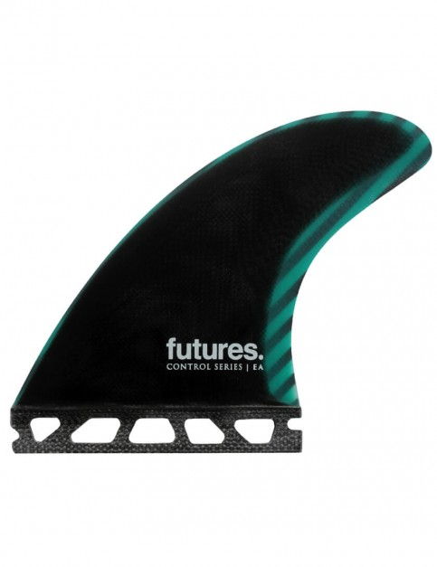 Futures Control Series EA Tri Fin Medium - Black/Teal