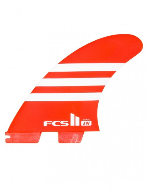FCS II JW PC Tri Fins Large - Red/White