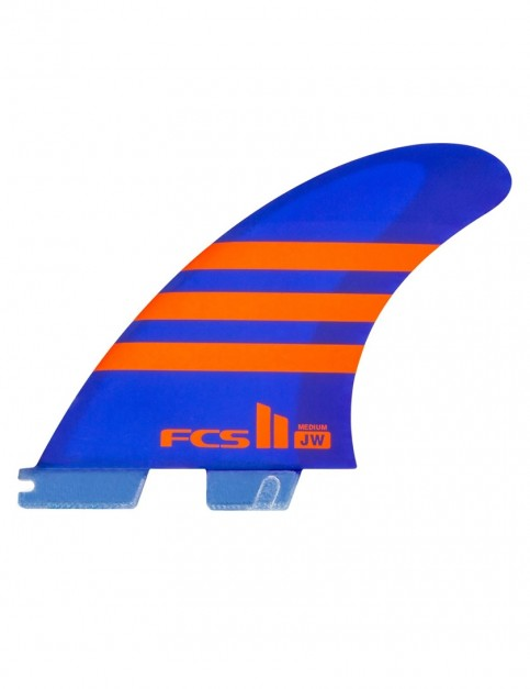 FCS II JW PC Tri Fins Medium - Blue/Orange