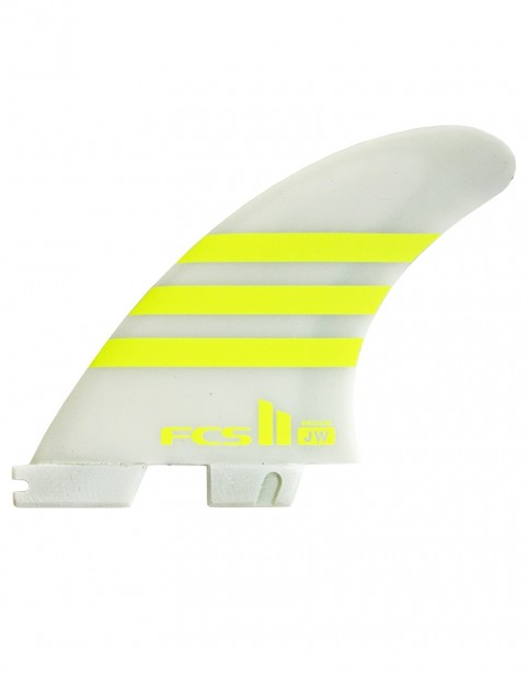 FCS II JW PC Tri Fins Medium - Acid/White