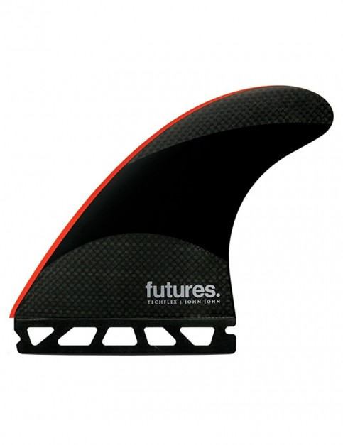 Futures John John Florence Techflex Tri Fins Large - Red Tip