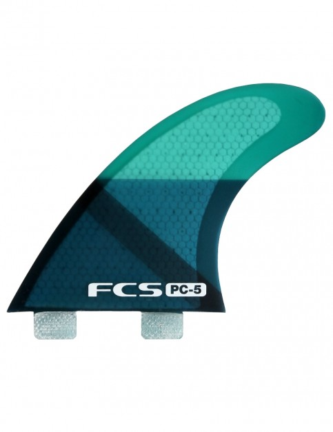 FCS PC 5 Quad Fins Medium - Blue Slice