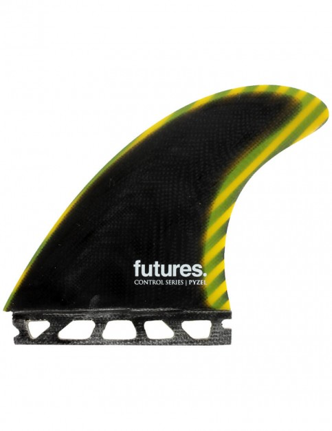 Futures Control Series Pyzel Tri Fin Large - Black/Yellow