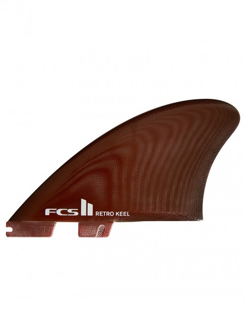FCS II Retro Keel PG Twin Fins X Large - Red