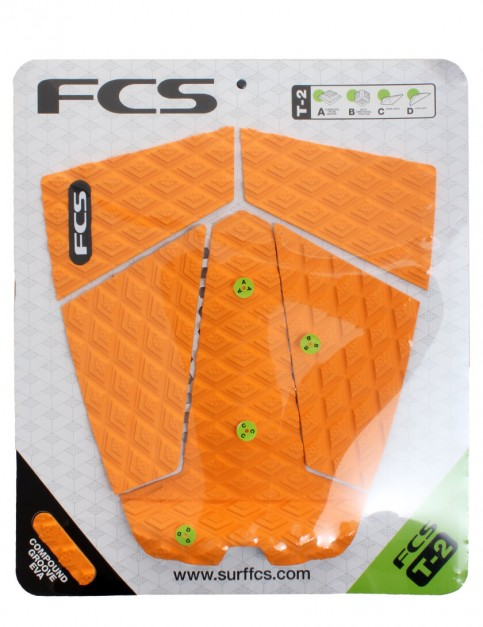 FCS T-2 Surfboard Tail Pad - Orange