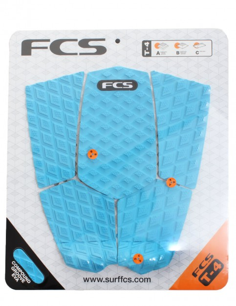 FCS T-4 Surfboard Tail Pad - Blue
