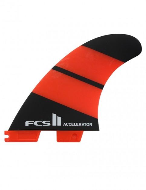 FCS II Accelerator Neo Glass Tri Fins Large - Orange/Black
