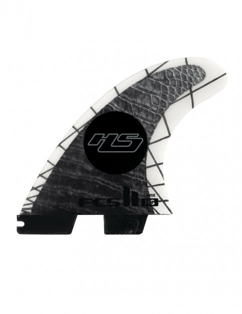 FCS II HS PC Carbon Tri-Quad Fins Large - Black