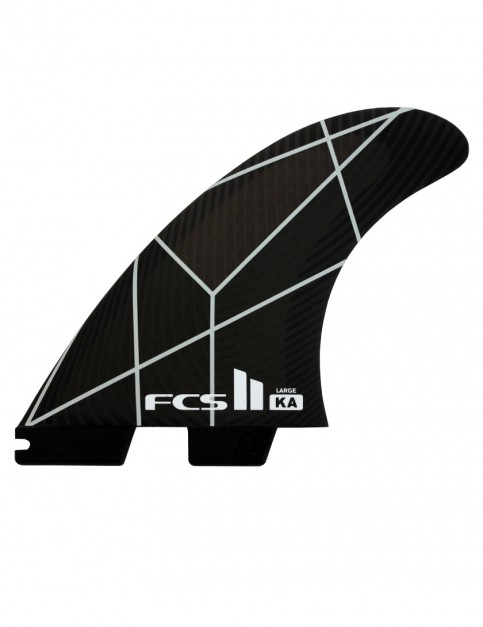 FCS II Kolohe Andino PC Tri Fins Large - White/Grey