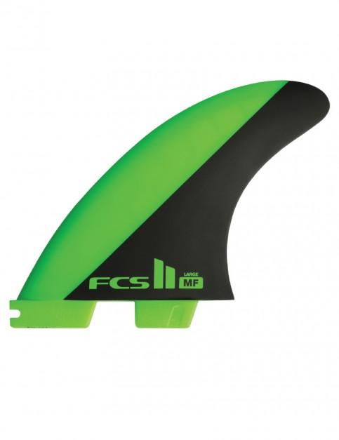 FCS II Mick Fanning PC Tri Fins Large - Green/Black
