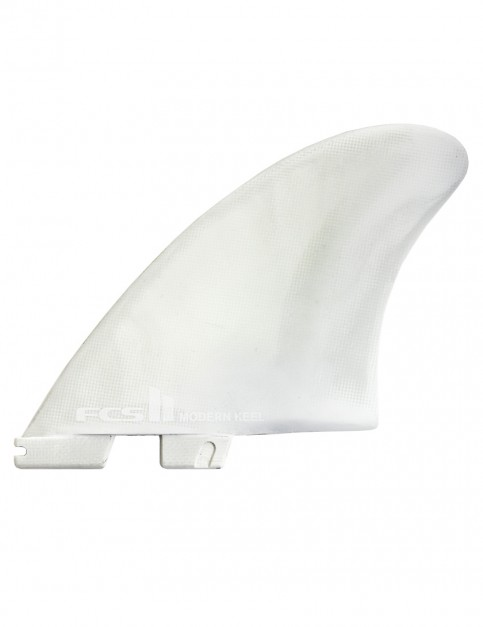 FCS II Modern Keel PC Twin Fins X Large - White