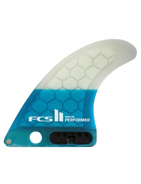 FCS II Performer PC Longboard Fin Medium - Teal