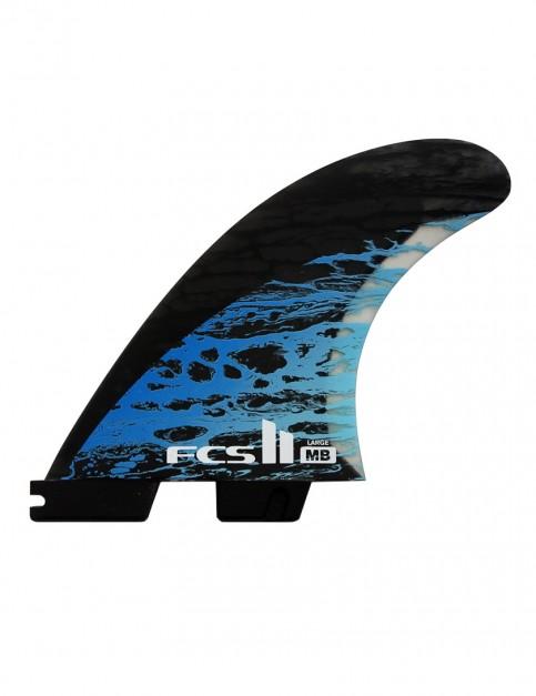 FCS II Matt Biolos PC Carbon Tri-Quad Fins Large - Blue
