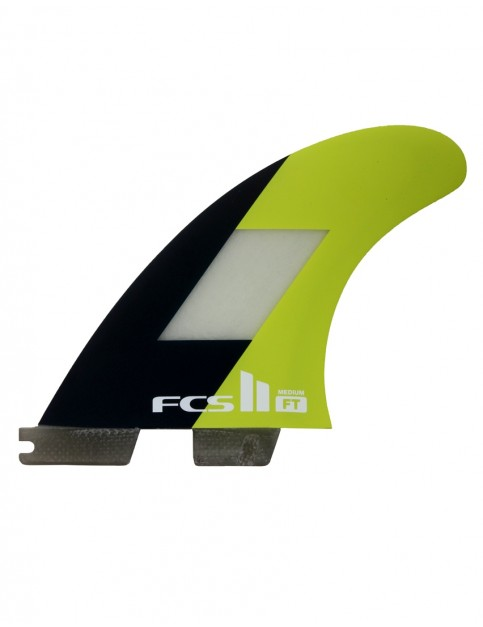 FCS II Filipe Toledo PC Tri Fins Medium - Neon Yellow