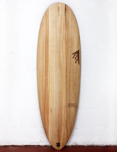 Firewire Timbertek Greedy Beaver surfboard 5ft 8 FCS II - Natural Wood