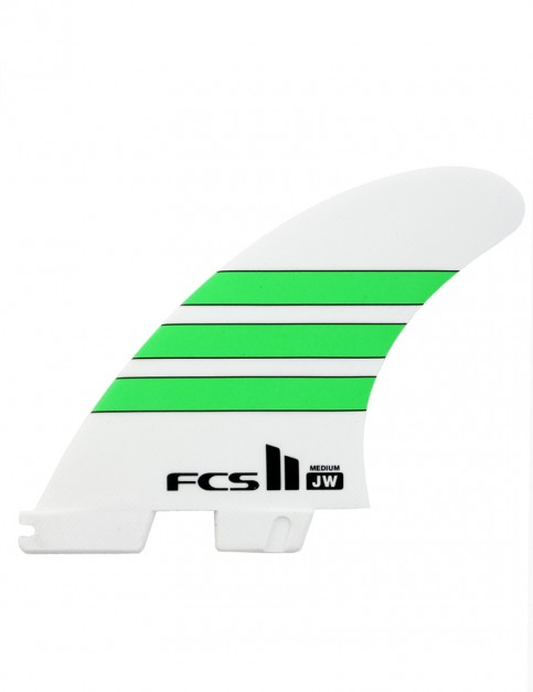 FCS II JW PG Tri Fins Medium - White/Green