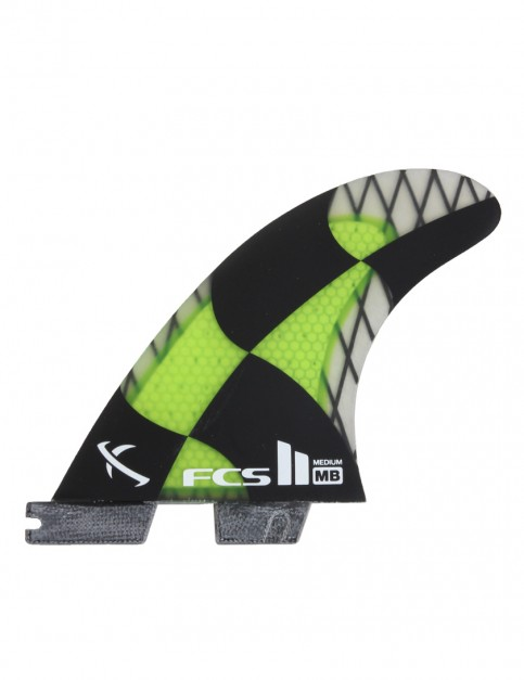 FCS II Matt Biolos PC Carbon Tri Fins Medium - Acid Green
