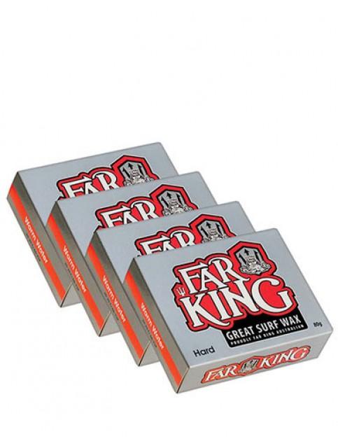 Far King Warm Water Wax Pack 4 Bars of hard surf wax - Misc