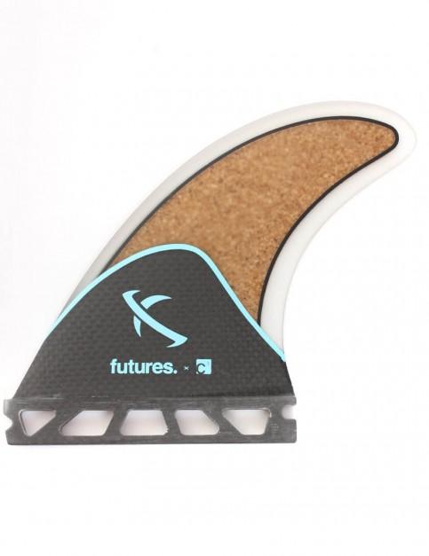 Future Fins Lost C3 Carbon Cork (Medium) Three fin set - Blue/Carbon/Cork