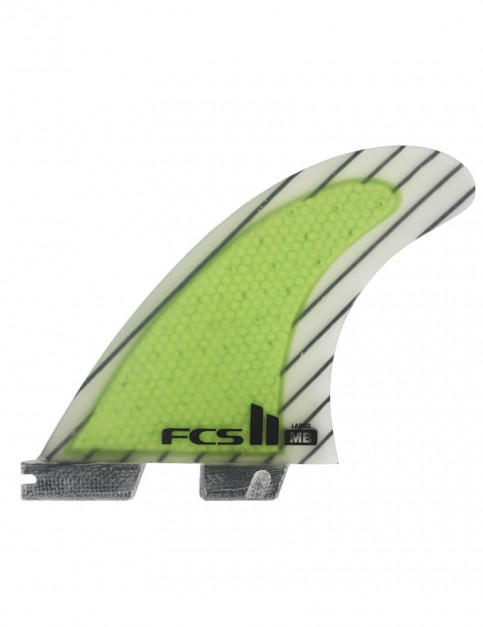 FCS II Matt Biolos PC Carbon Tri-Quad Five Fins Large - Acid Green