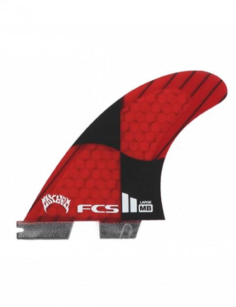 FCS II Matt Biolos PC Carbon Tri-Quad Five Fins Large - Rocket Red