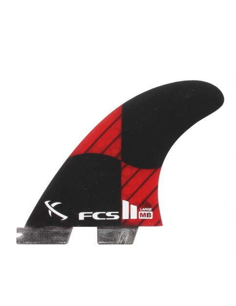 FCS II Matt Biolos PC Carbon Tri Fin Large - Rocket Red