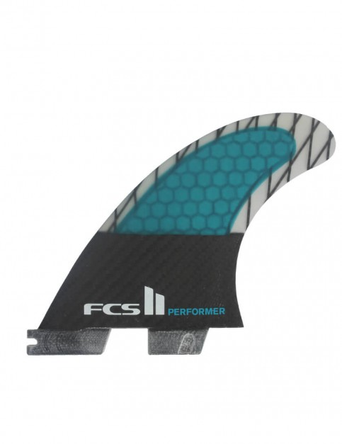 FCS II Performer PC Carbon Quad Fins Medium - Blue