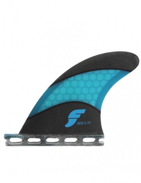 Futures QD2 3.75 Techflex Quad Rear Two Fin Set Small - Black/Blue
