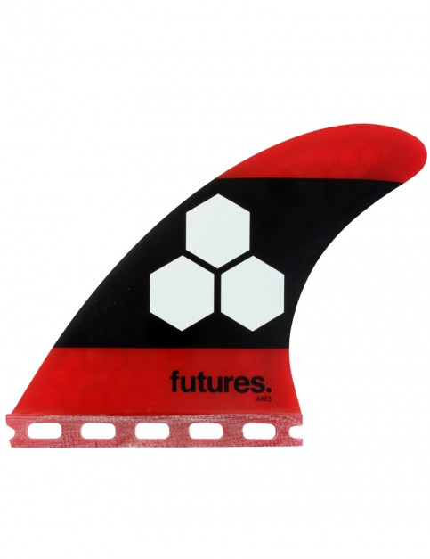 Futures AM3 Honeycomb Tri Fins Small - Red/Black