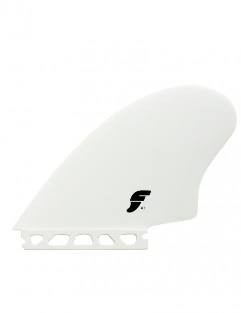 Futures K1 Keel Twin Fin Large - White