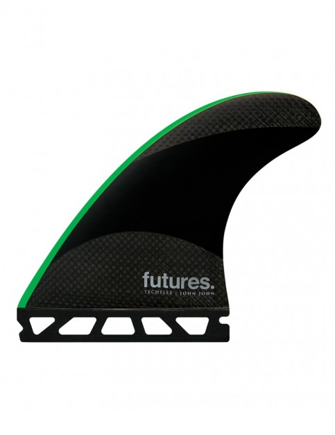 Futures John John Florence Techflex Tri Fins Medium - Green Tip
