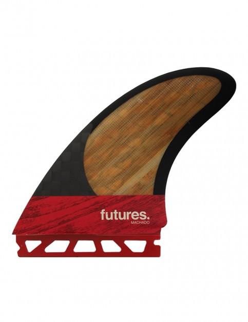 Futures Machado Twin Fin + Trailer Large - Red/Bamboo