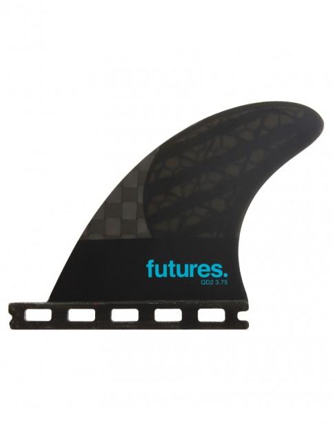 Futures Blackstix QD2 3.75 Quad Rears Medium - Smoke/Turquoise