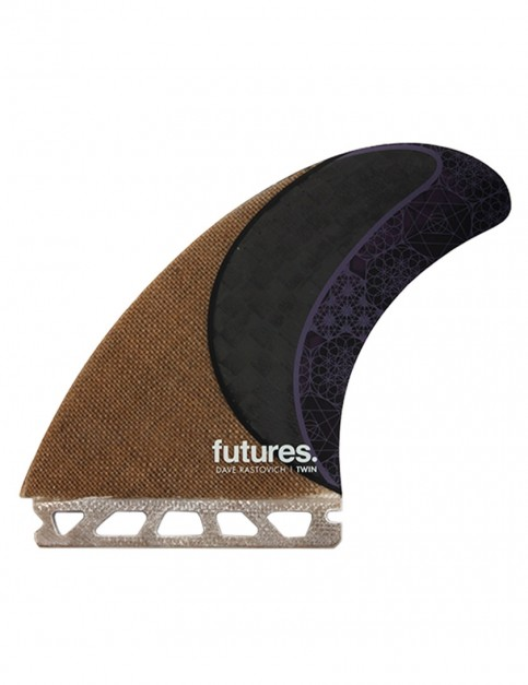 Futures Rasta Twin Fin + Trailer Large - Jute/Carbon/Purple