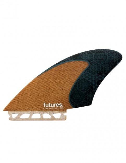 Futures Rasta Honeycomb Keel Twin Fins Large - Jute/Teal