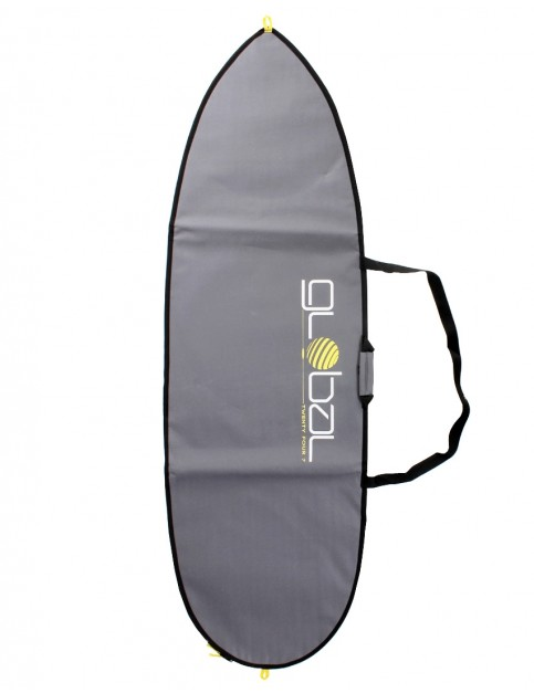 Global Twenty Four Seven Shortboard surfboard bag 5mm 6ft 6 - Grey