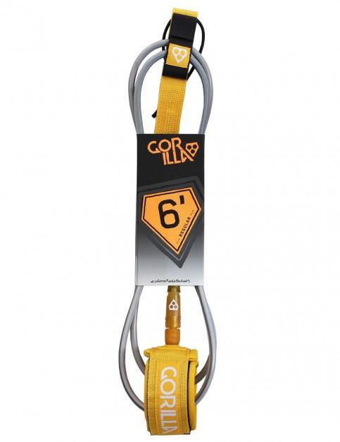Gorilla Regular surfboard leash 6ft - Mustard